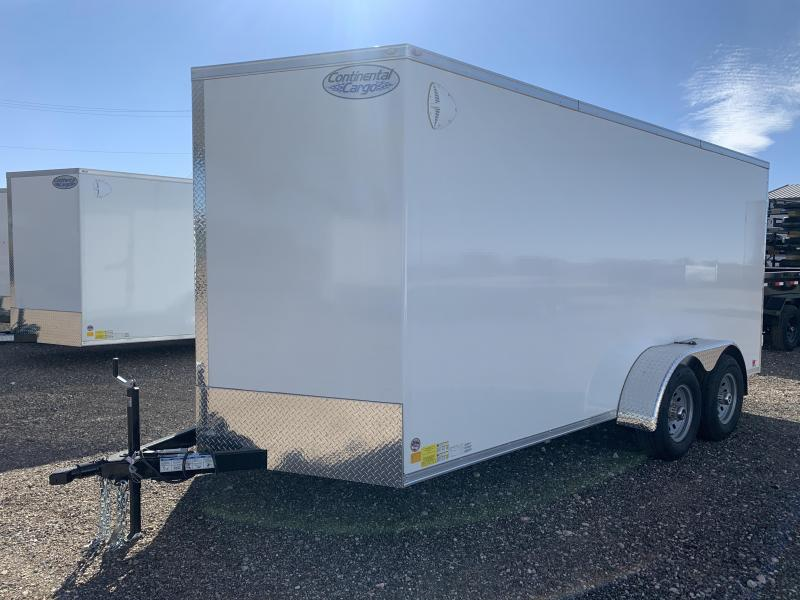 7X16X6.5 Continental Cargo (7K) Steel Enclosed Cargo Trailer w/ Ramp Door