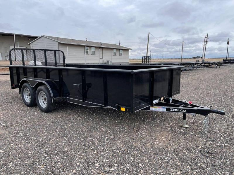 2021 Delco Trailers 83X16 Delco Utility w/ 2ft Solid Sides Utility Trailer