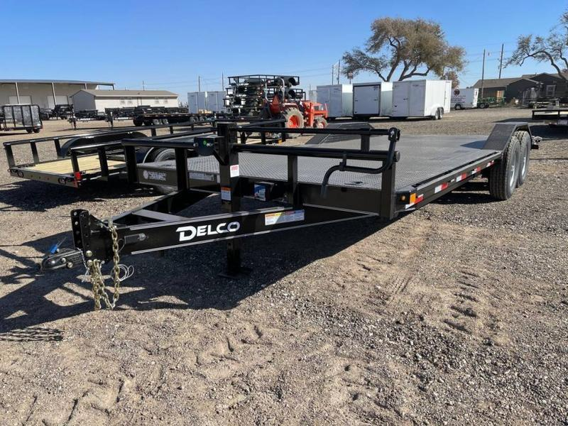2021 Delco Trailers Delco 102X22 Drive-Over Fenders - Steel Floor Equipment Trailer