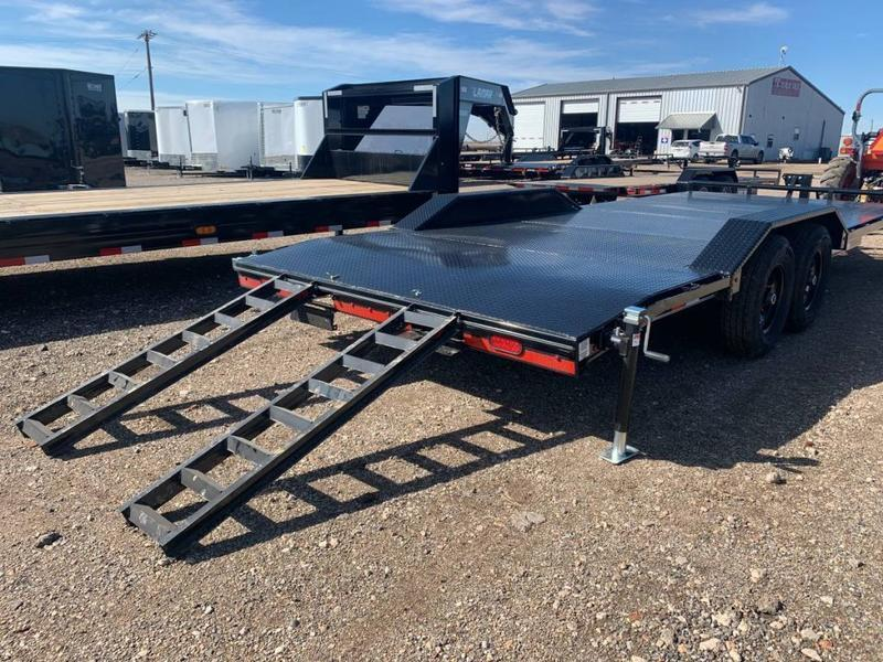 2021 Lamar Trailers 102X22 Drive-Over Fenders Steel Floor Equipment Trailer