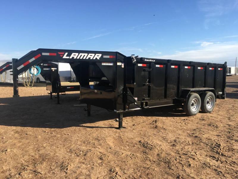 Lamar Trailers 83X16 (14K) Gooseneck Dump Trailer - 4' Sides