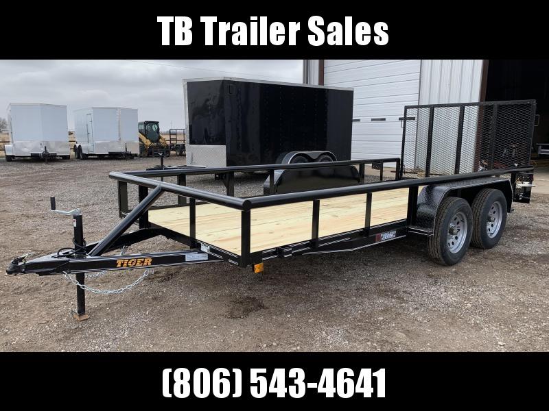 2021 Tiger 77X16 Tiger Tandem Axle Utility Trailer w/Ramp Gate