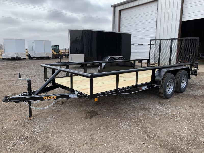 2021 Tiger 77X16 Tiger Tandem Axle Utility Trailer w/Ramp Gate