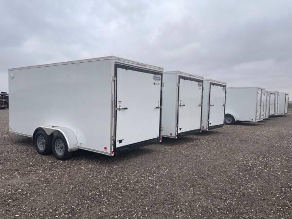 7X16X7 (10K) Enclosed Cargo Trailer - All Steel Construction - E Track - Barn Doors