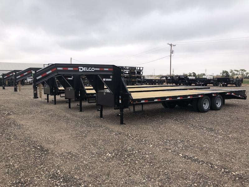2021 Delco Trailers 102X25 (24K) Tandem Dual Gooseneck Equipment Trailer