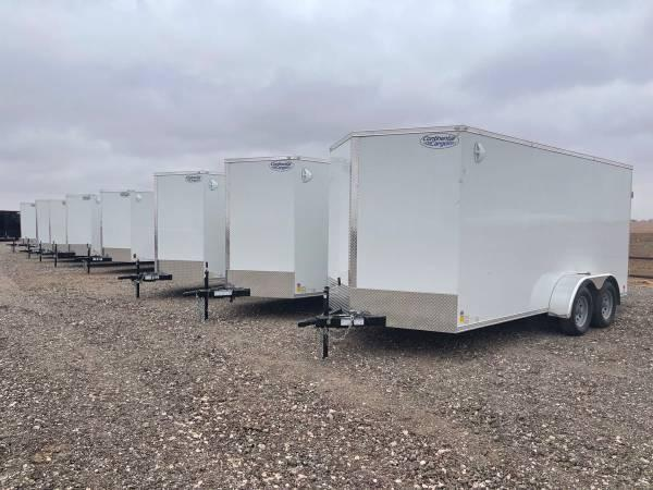 7X16X6.5 Continental Cargo (7K) Steel Enclosed Cargo Trailer w/ Barn Doors