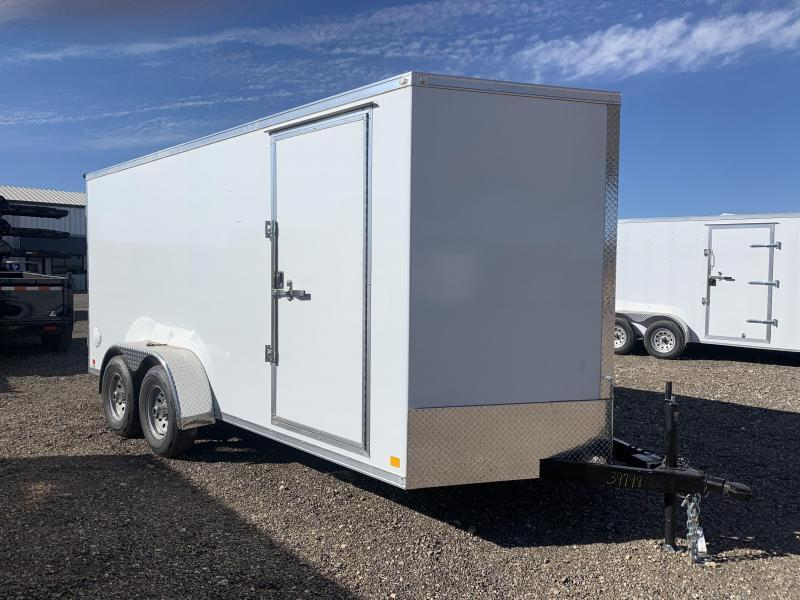 7X16X6.5 Cargo Trailer - All Steel Construction - E Track - Ramp Door