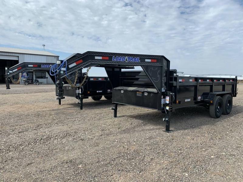 Load Trail 83X14 Heavy Duty (14K) Gooseneck Dump Trailer - 2' Sides