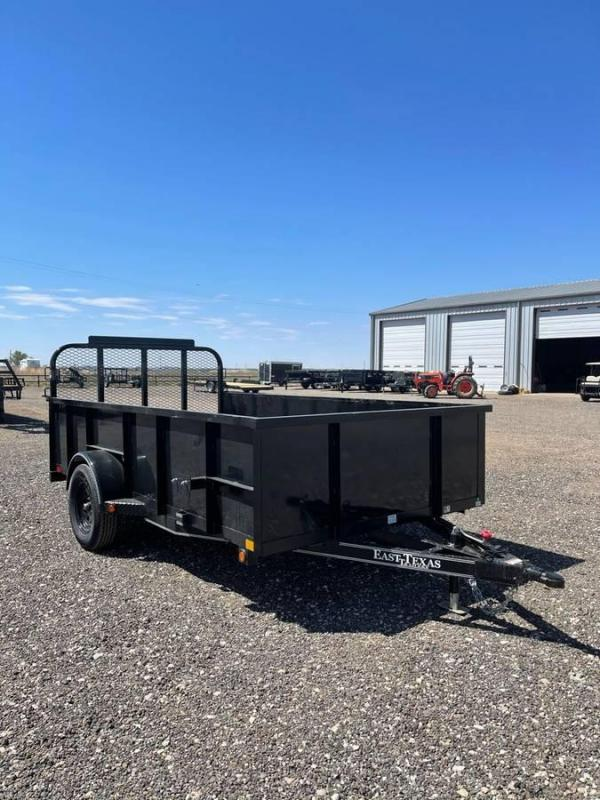 2021 East Texas 77X12 Utility Trailer w/ 2ft Solid Sides Utility Trailer