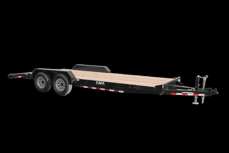 """2021 Cam Superline 82"""" X 18' 3.5 Ton Car Hauler Trailer 18FT Wood Deck) Flatbed Trailer"""