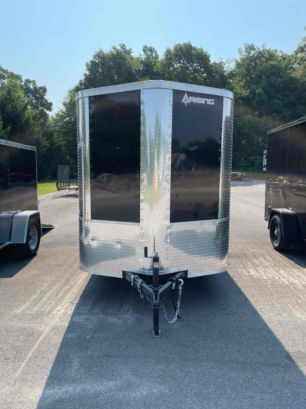 2021 Arising 6' x 12'  Black Enclosed Cargo Trailer
