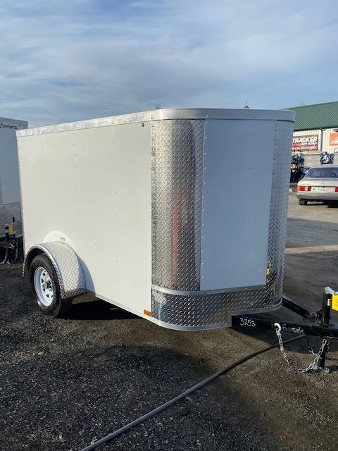 2021 Arising 5' x 8' White  Enclosed Cargo Trailer