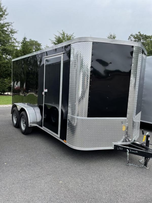 2021 Arising 7' X 14' Black Enclosed Cargo Trailer