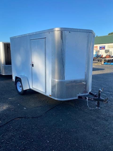 2021 Arising 6' x 10' White Enclosed Cargo Trailer