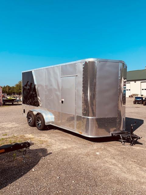 2020 Arising 7' X 16' 7'6 Enclosed Cargo Trailer