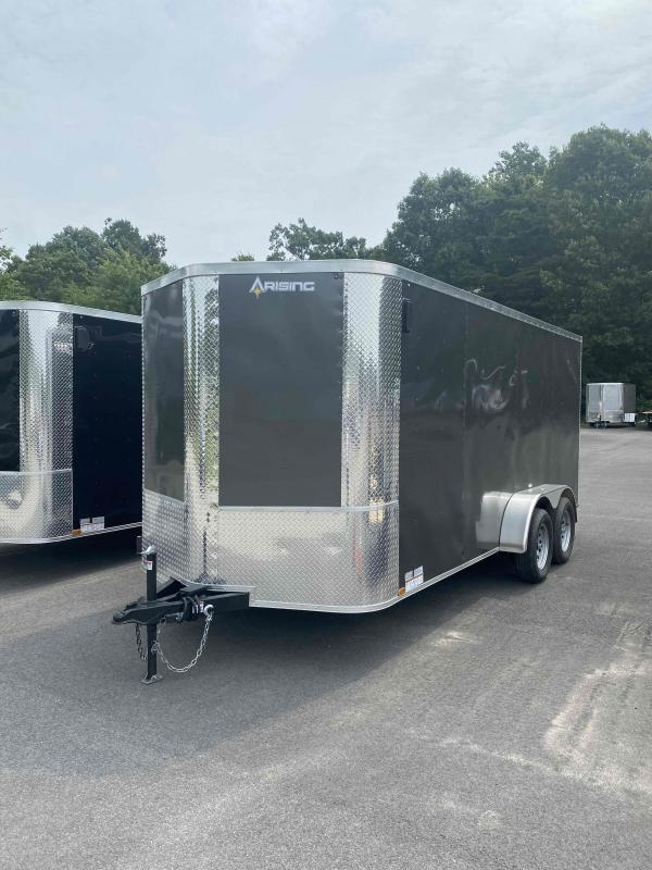 2021 Arising 7' x 16' Tandem Axle Charcoal Enclosed Cargo Trailer