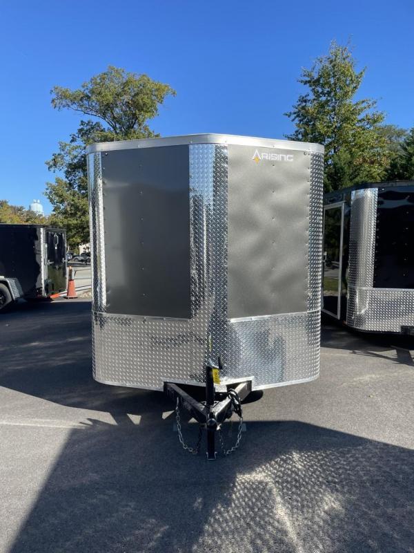 2022 Arising 7' x 16' Tandem Axle Charcoal Enclosed Cargo Trailer