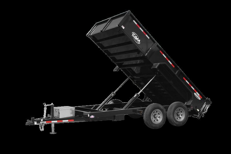 2021 Cam Superline 7' x 14'  7 Ton Advantage HD Low Profile Dump Trailer
