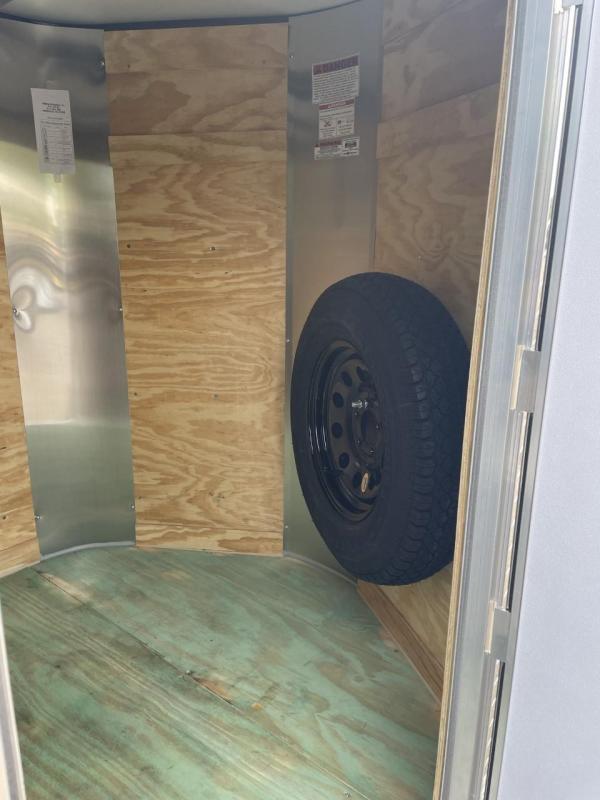 2022 Arising 5' x 8' Black Enclosed Cargo Trailer