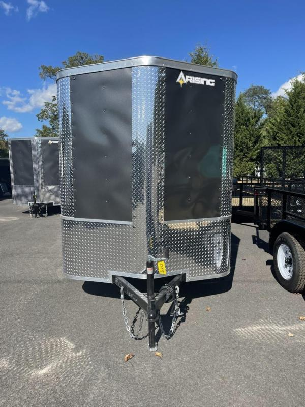 2022 Arising 6' x 12' Soft Nose Charcoal Single Axle Enclosed Cargo Trailer