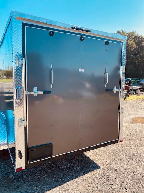 2021 Arising 7' x 14' Charcoal Grey Enclosed Cargo Trailer