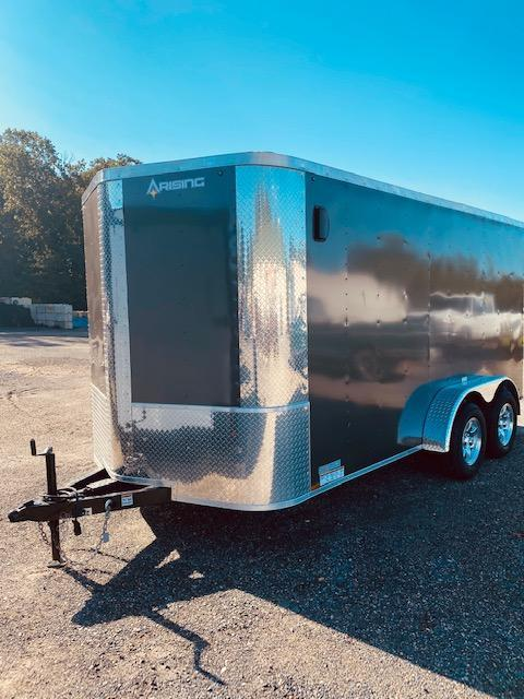 2021 Arising 7' x 14' Charcoal Grey Enclosed Cargo Trailer