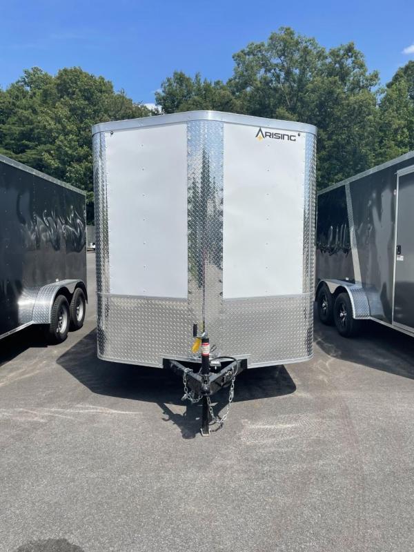 2021 Arising 7' x 14' White Enclosed Cargo Trailer
