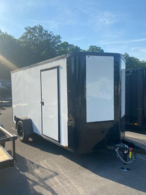 2021 Arising 6' x 12' White Blacked Out Enclosed Cargo Trailer