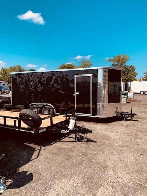 "2019 Arising 8'.5"" x 20' White V Nose Enclosed Cargo Trailer"
