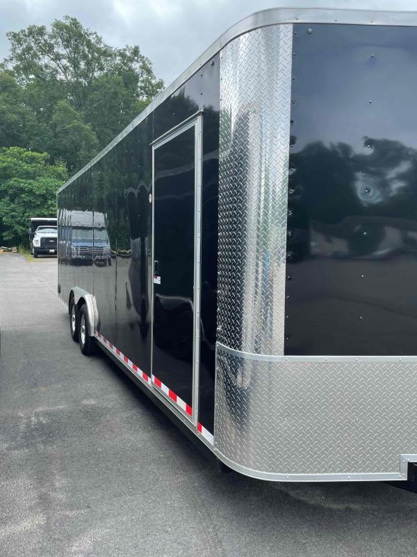 """2019 Arising 8'.5"""" x 24' Black V Nose Enclosed Cargo Trailer"""