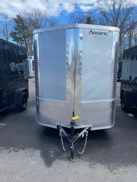 2021 Arising 6' X 12' Silver Mist Soft V-Nose Enclosed Cargo Trailer