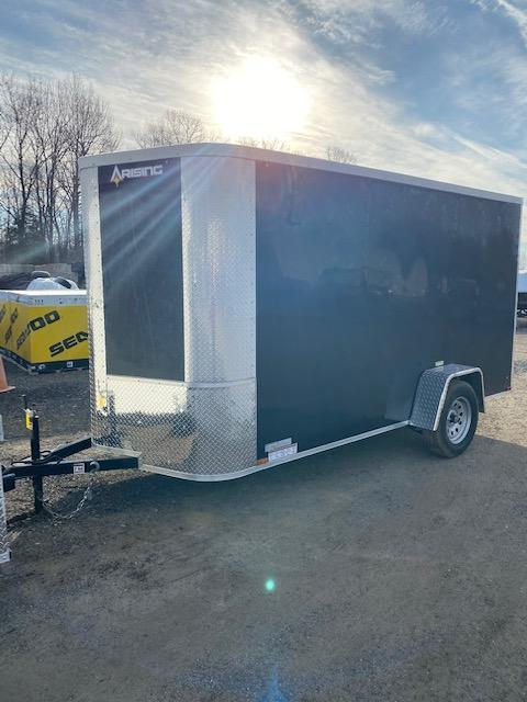 2021 Arising 6' x 12' Enclosed Cargo Trailer Silver Mist