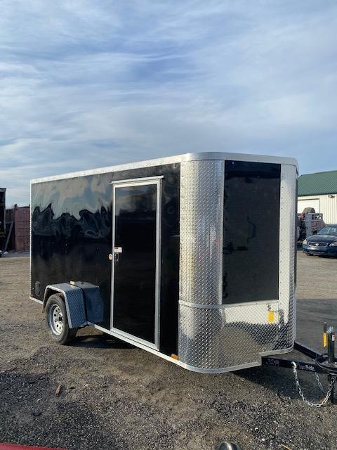 2021 Arising 6' x 12' Enclosed Cargo Trailer Black