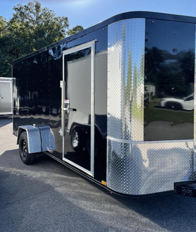 2022 Arising 6' x 14' Black Enclosed Cargo Trailer