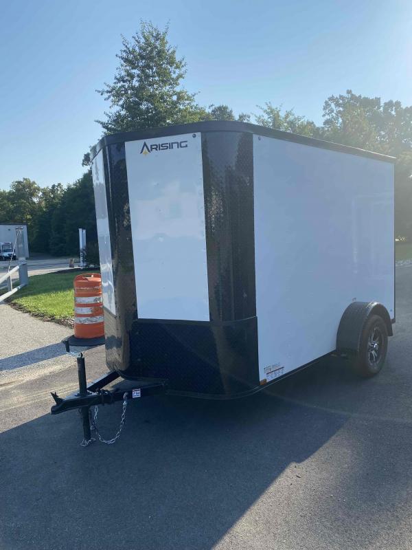 2021 Arising 6' X 10' White BlackOut Enclosed Cargo Trailer
