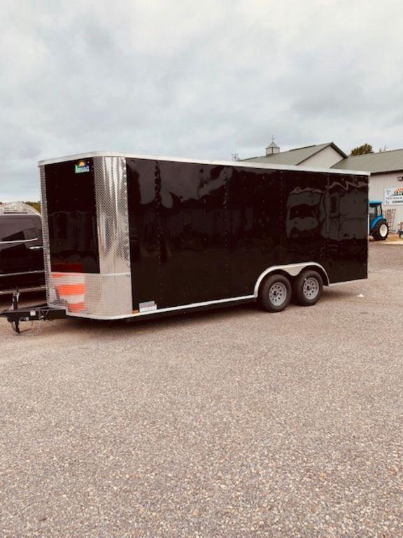 """2019 Arising 8'.5"""" x 18' Soft Nose Tandem Axle Enclosed Cargo Trailer 7'6"""" Interior Height"""