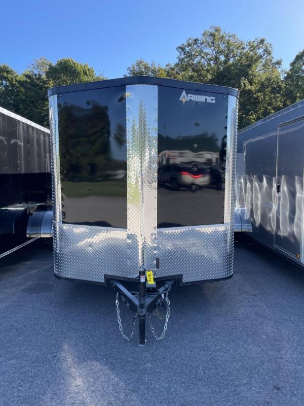 2022 Arising 7' x 18'  Black Soft Nose Tandem Axle Enclosed Cargo Trailer