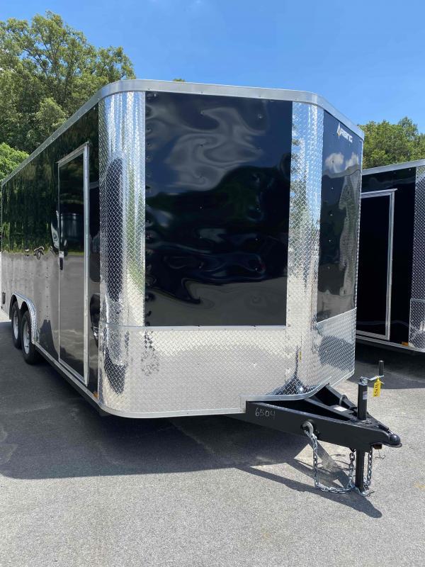 """2021 Arising 8'.5"""" x 18'  Black Soft Nose Tandem Axle Enclosed Cargo Trailer 7'6"""" Interior Height"""
