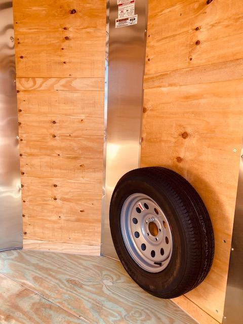 2021 Arising 6' X 12' V-Nose Charcoal Enclosed Cargo Trailer