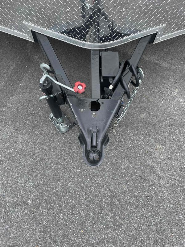 2021 Arising 7' X 12' Silver Mist/ Black Enclosed Cargo Trailer