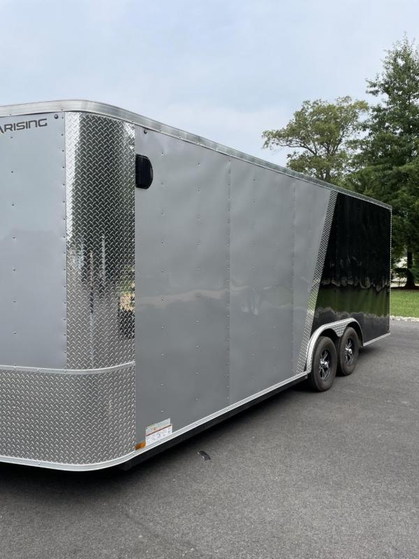 2019 Arising 8.5 x 20 Two Tone Tandem Axle Enclosed Cargo Trailer 7' Height