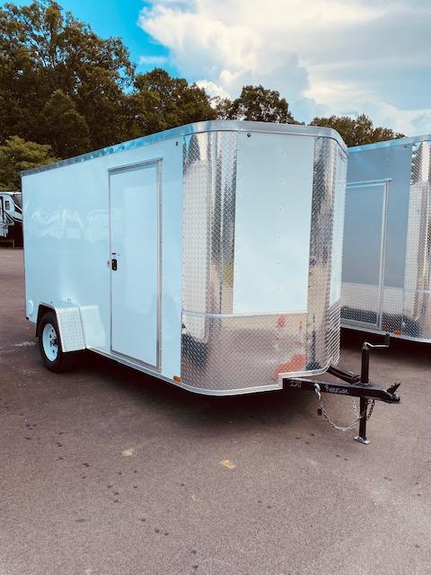 2021 Arising 6' x 12' White Enclosed Cargo Trailer