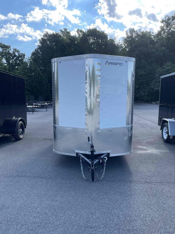 2021 Arising 6' x 12' White Enclosed Cargo Trailer
