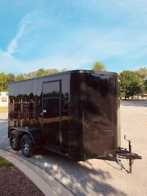 2020 Arising 7' x 12' V Nose Blackout Enclosed Cargo Trailer