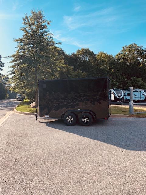 2020 Arising 7' x 12' V Nose Blackout Enclosed Cargo Trailer