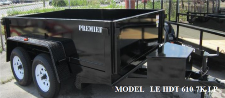 2021 Premier Trailers Inc. 6' x 12' 10K LP Dump Trailer