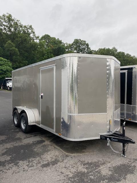 2021 Arising 7' X 14' Pewter Soft V-Nose Enclosed Cargo Trailer
