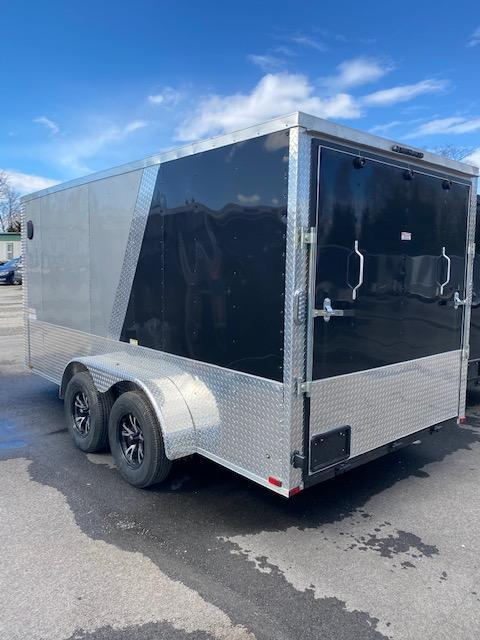 2021 Arising 7' X 14' Silver Mist/Black Soft V-Nose Enclosed Cargo Trailer