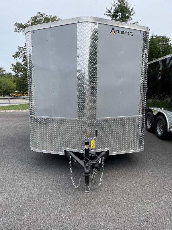 2021 Arising 7' X 14' Silver Mist Soft V-Nose Enclosed Cargo Trailer