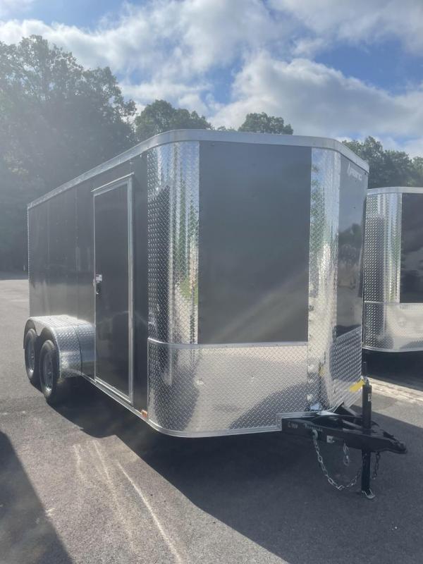 2021 Arising 7' X 14' Charcoal Tandem Axle Enclosed Cargo Trailer